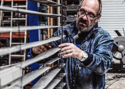 Gollnast Mitarbeiter Werkstatt Rolladen und Raffstore Anfertigung